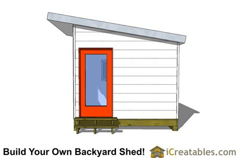 10 X 20 Modern Shed Plans by 10x12 Studio Shed Plans S3 10x12 Office Shed Plans