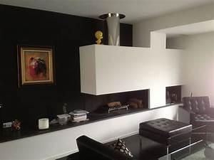 Cheminée Contemporaine Foyer Fermé : cheminee moderne foyer ouvert ~ Melissatoandfro.com Idées de Décoration