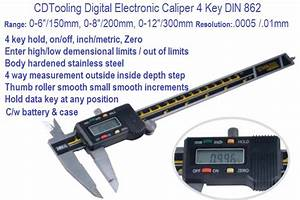 Electronic Digital Caliper 4 Key 0