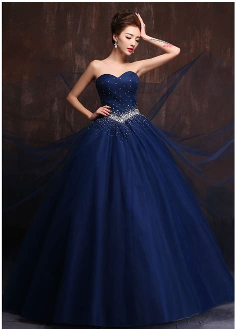 custom  color  size vestidos de noiva royal blue