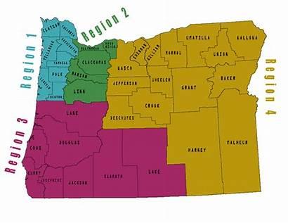Oregon Regions Region Osha Map Crook Sherman