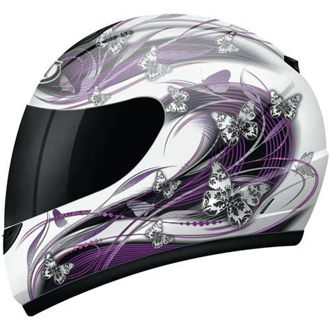 ladies motorcycle helmet mt thunder butterfly ladies womens polycarbonate