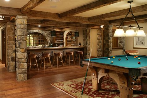 basement bar ideas rustic basement traditional with exposed beams exposed beams framed artwork