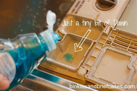 dish soap in dishwasher 2 ingredient homemade dishwasher detergent binkies and briefcases
