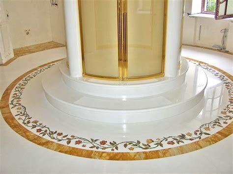 Bagni di lusso   Intarsio   Pavimento in marmo   Statua di