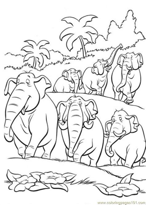 Coloring Jungle by Elephant Jungle Book Coloring Page Coloring Pages