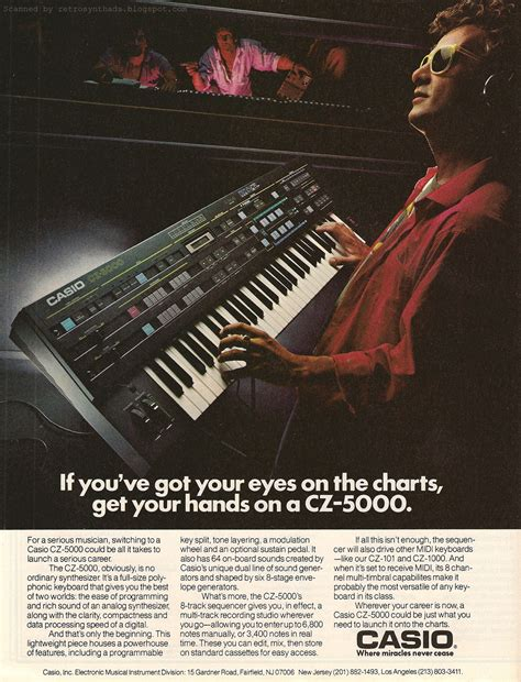 retro synth ads casio cz    perform  performs