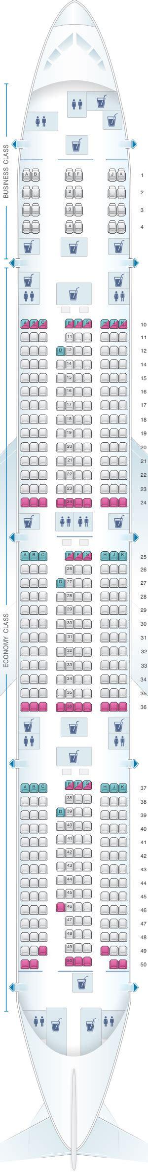 plan siege boeing 777 300er plan de cabine qatar airways boeing b777 300er 412pax