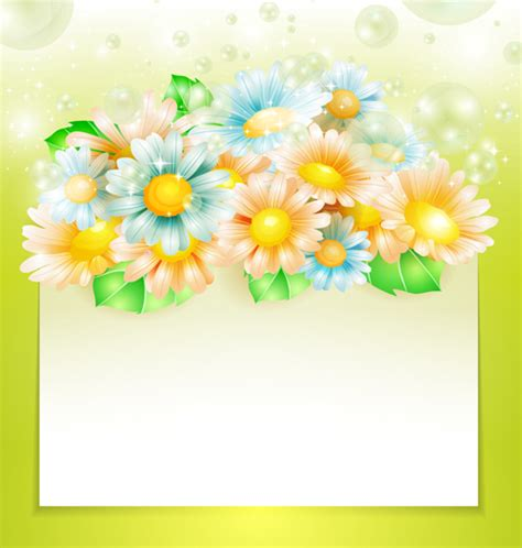 shiny flowers creative background vector 01 vector background free фоны