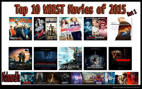Top 10 Worst Movies Of 2015 Part 1 By Kouliousis On Deviantart