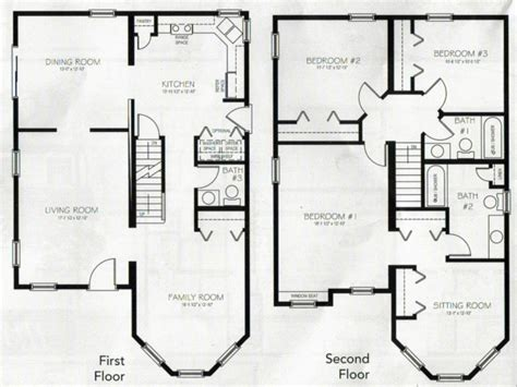 family room floor plans 4 bedroom 2 house plans 2 master bedroom two