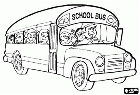 dibujos de transportes escolares  pintar colorear