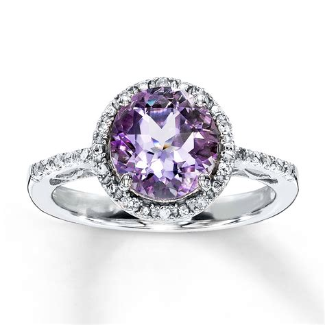 amethyst wedding ring amethyst ring cut with diamonds sterling silver