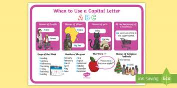 capital letter poster capital letters
