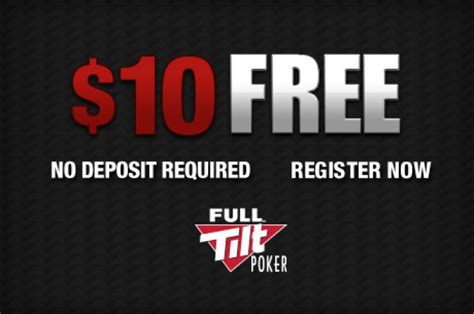 Help Yourself To A Free $10 At Full Tilt Poker No