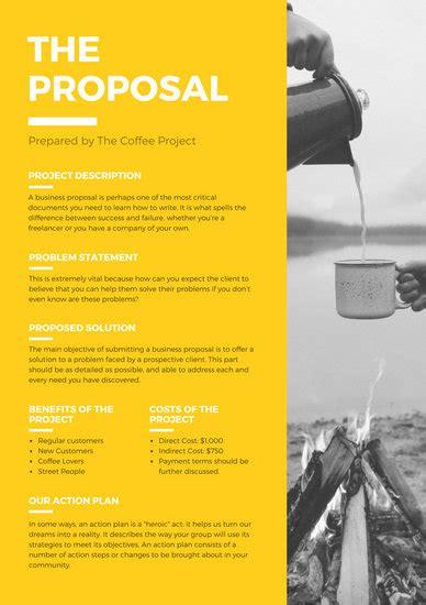 customize  proposal templates  canva