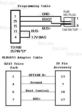 motorola cm300 accessory pinout diagram