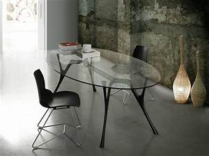 Table à Manger Verre Et Bois : table manger design moderne et contemporain en verre ~ Teatrodelosmanantiales.com Idées de Décoration