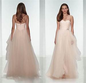 elegant 2015 light pink tulle beach wedding dresses With blush beach wedding dress