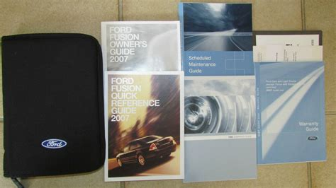 ford fusion owners manual owner guide ebay