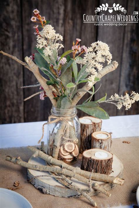 aspen twig bundle rustic wedding centerpiece