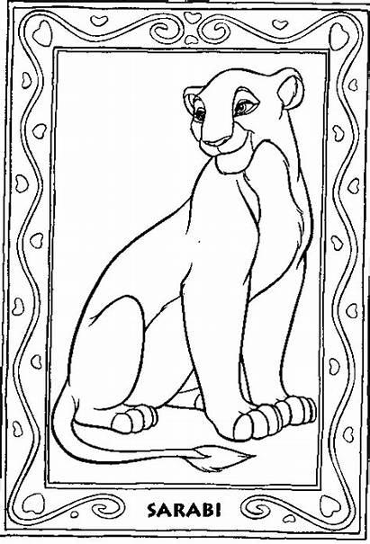 Lion Coloring King Pages Sarabi Simba Disney