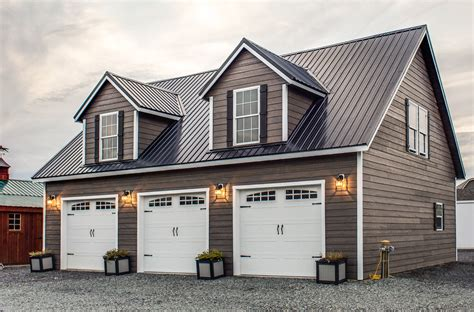 2 Story Garage Packages by Two Story Deluxe Prefab And Modular Garage Woodtex