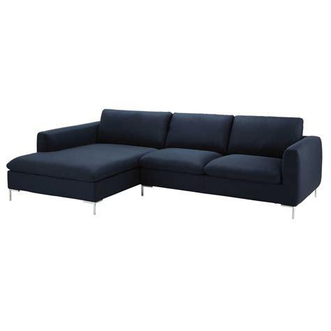 bureaux moderne canapé d 39 angle 5 places en tissu bleu nuit city maisons