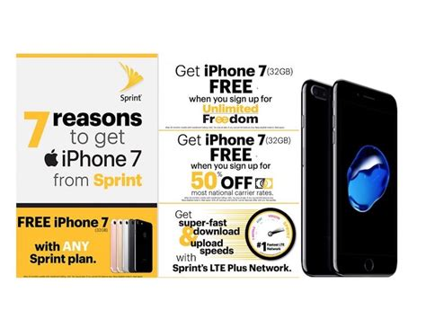sprint iphone deals sprint joins verizon at t and t mobile with free iphone