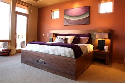 Custom Made Modern Black Walnut Bed With Headboard By