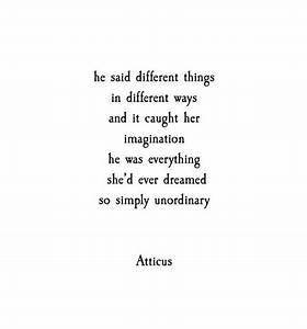 Love Quotes For... Atticus Description Quotes