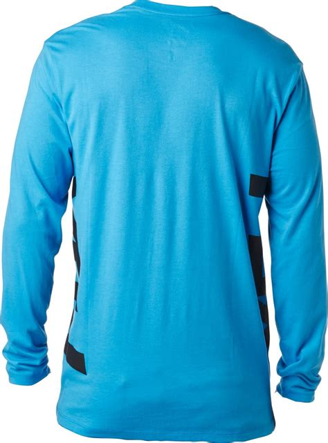 fox motocross shirt fox racing mens spawnic long sleeve classic crew neck