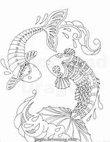 Koi Coloring Steampunk Fish Pages Pond Japanese Mechanical Machine Steel Lovesmag sketch template
