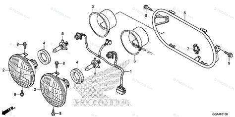 Honda Scooter Oem Parts Diagram For Headlight