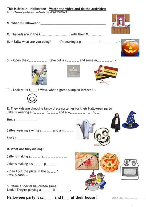 This Is Britain  Halloween Worksheet  Free Esl Printable Worksheets Made By Teachers