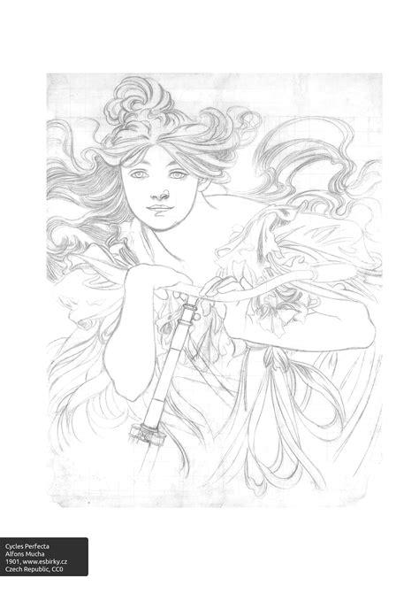 colorourcollections   art nouveau colouring book