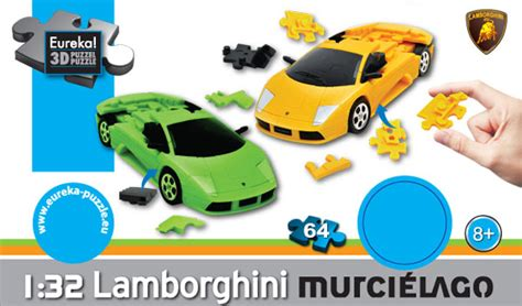 Yellow 3d Jigsaw Puzzle Car Kit