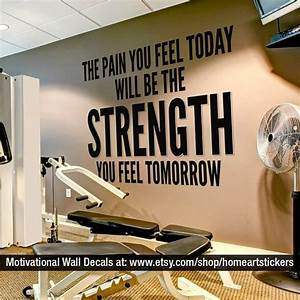 exercise stickers gym wall decal workout by With the best motivational wall decals for gym