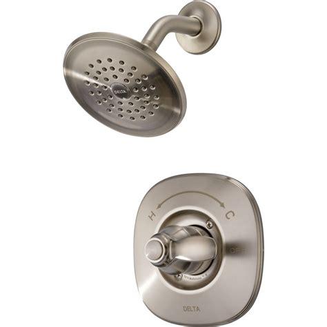 Delta Nura Bathroom Faucet by Shop Delta Nura Stainless 1 Handle Watersense Shower
