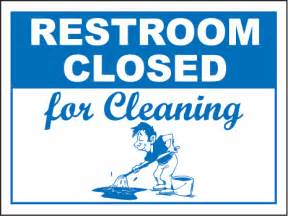 restroom closed cleaning sign by safetysign com r5341