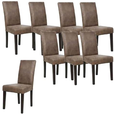 lot chaise pas cher albus lot de 8 chaises de salle à manger vintage marron
