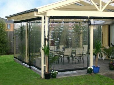 waterproof commercial mm pvc clear awning canopy patio roll  enclosure  ebay