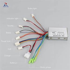 Electric Bike Controller 250w 350w 24v 36v 48v Sine Wave
