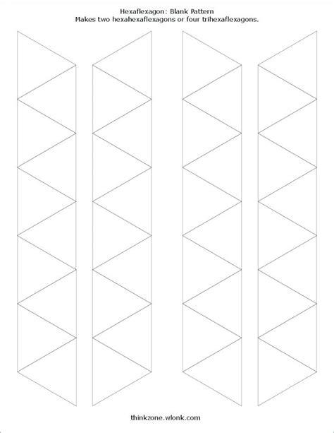 Tri Hexa Flexagon Template by Hexaflexagon Template To Print Map Paper Hexa Flexagon