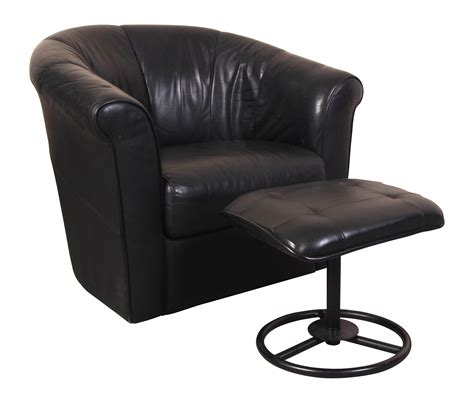 italsofa black leather swivel tub chair with compatible