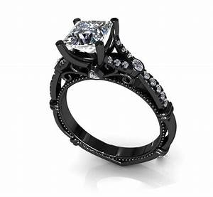 black diamond rings for women black gold wedding rings for With black womens wedding ring