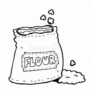 Cartoon bag of flour stock illustration. Illustration of ...