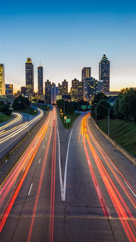 atlanta usa road skyscrapers wallpaper
