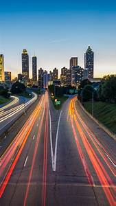 Atlanta Usa Road Skyscrapers Wallpaper - [1440x2560]