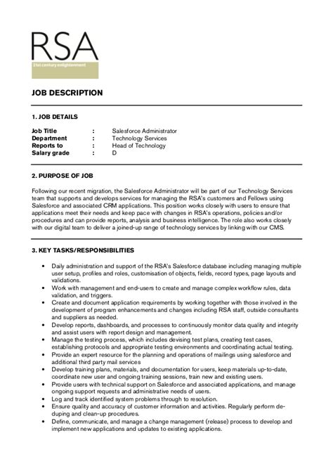 Salesforce Administrator Resume by Salesforce Administrator Jd